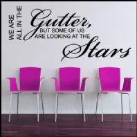 We Are All in the Gutter Word Art~ Wall sticker / decals
